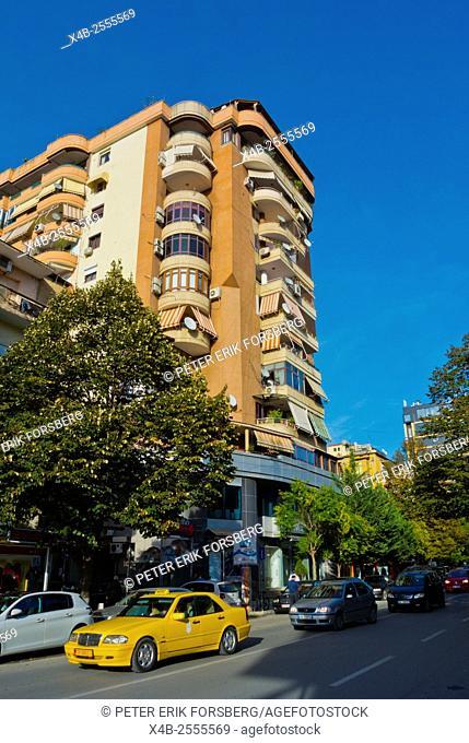 Rruga Abdyl Frasheri street, Blloku district, Tirana, Albania