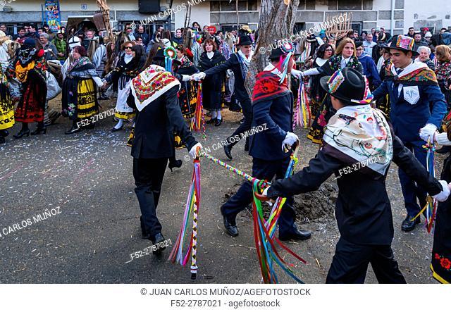 """Carnival """"""""Los Cucurrumachos"""""""", Navalosa, Avila, Castilla y León, Spain, Europe"""
