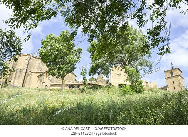 San Vicente de la Sonsierra castle in La Rioja Spain