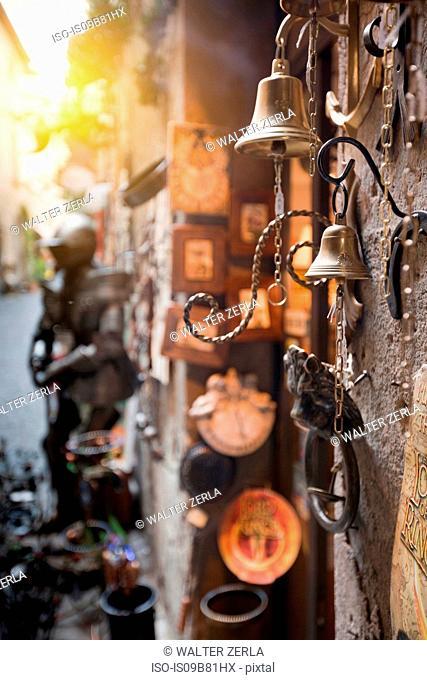 Wall mounted bells, Orvieto, Italy