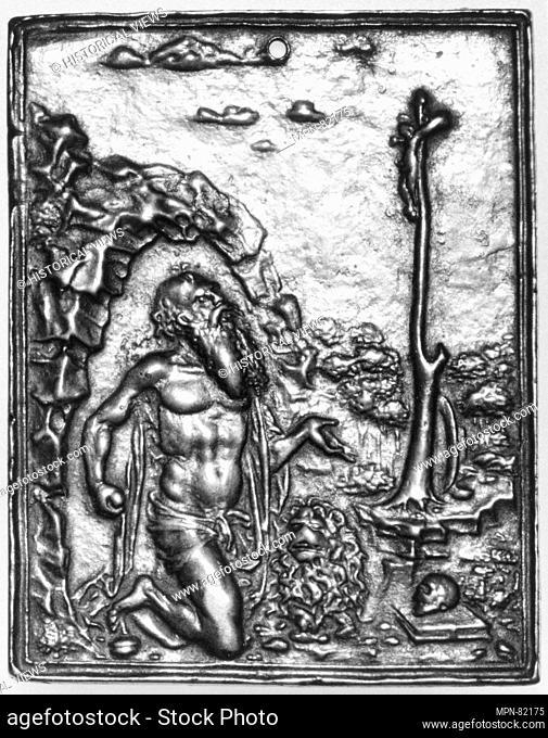 St. Jerome in the Desert. Artist: Moderno (Galeazzo Mondella) (Italian, Verona 1467-1528 Verona); Date: early 16th century; Culture: Italian; Medium: Bronze;...
