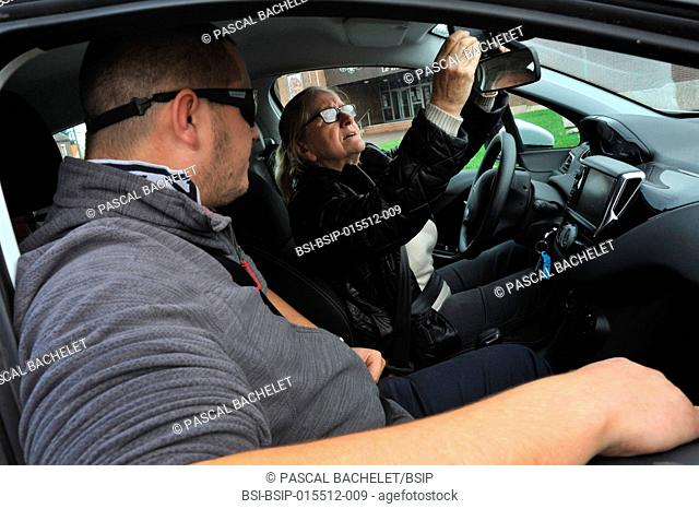 Reportage on a driving workshop for older people, Seniors behind the Wheel, organized by the Défi Autonomie Seniors association (helping senior citizens gain...