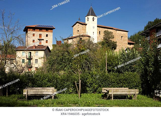 Church of St. Gregory the Great, San Martin quarter, Ataun, Goierri, Gipuzkoa, Guipuzcoa, Basque Country, Spain