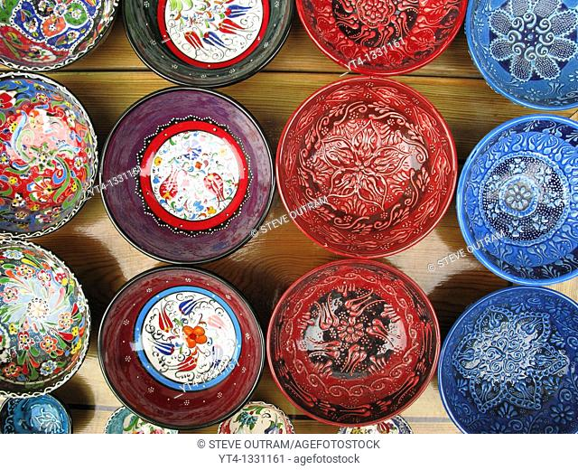 Ceramic Crockery Shop Display, Sultanahmet, Istanbul