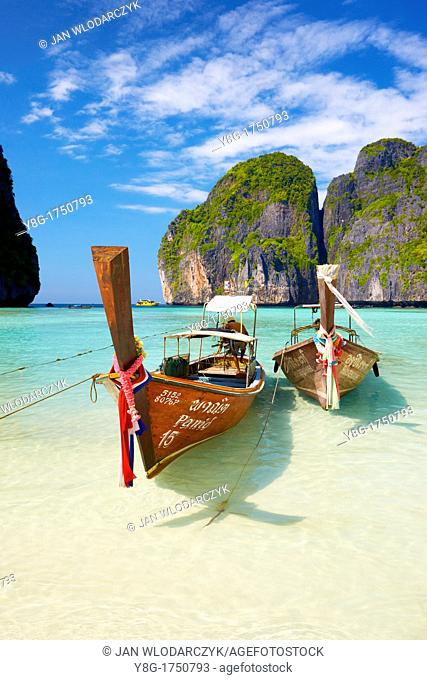 Thailand - Phang Nga, Maya Bay on Phi Phi Leh Island, Andaman Sea