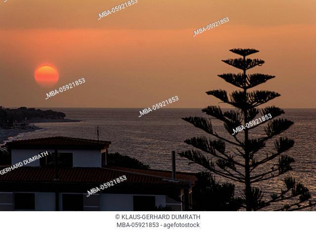 Rhodes, sundown over Ialyssos