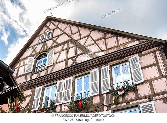 Typical building Alsatian houses. Colmar, Alsace. France