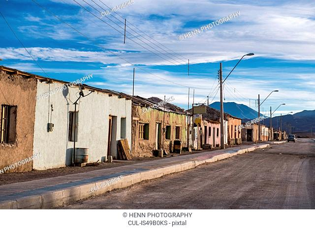 Street scene, Ollague, the border between Chile and Bolivia, Antofagasta, Chile, South America