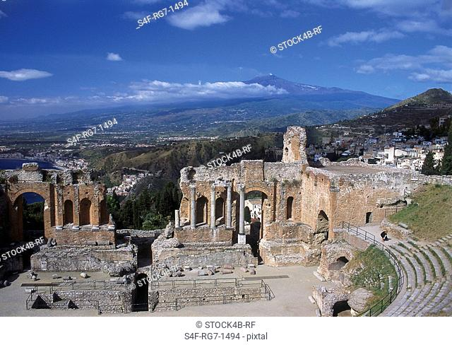 Antique Amphitheater, Taormina, Sicily, Italy