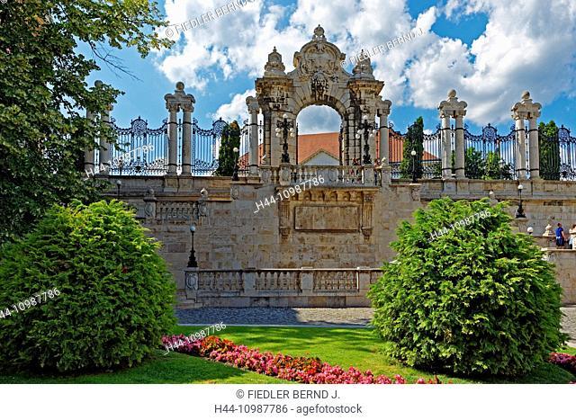 castle garden on mount Buda in Budapest