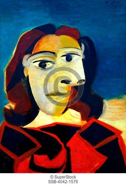 Portrait of Dora Maar, Pablo Picasso, 1939, Museo Nacional Centro de Arte Reina SofÕa, Reina Sofia Museum of Modern Art, Madrid, Spain, Europe, EU