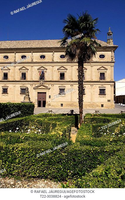 Úbeda (Jaén) Spain. Palace of Vázquez de Molina or Palace of the Chains in the Plaza Vázquez de Molina of the town of Úbeda