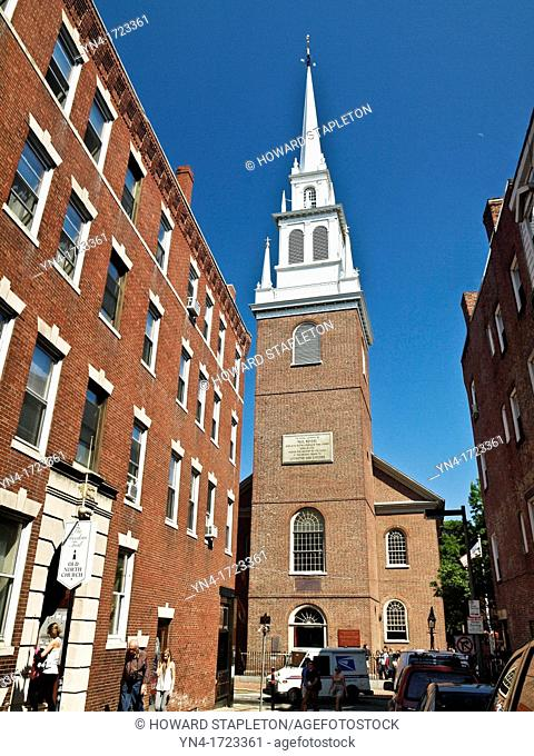 Old North Church was built in 1723, and is the oldest standing church building in Boston  On the evening of April 18, 1775 the church sexton