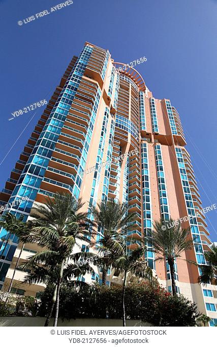 High building in Miami Beach, Florida, USA