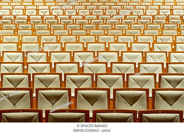 Seats in empty theater