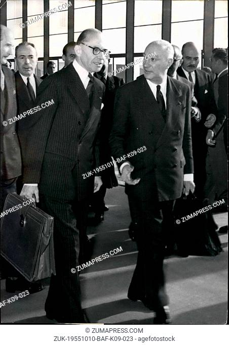 Oct. 10, 1955 - NATO council met to day in Paris :heavy program me at palais De chaillot in Paris, where the NATO council met to day