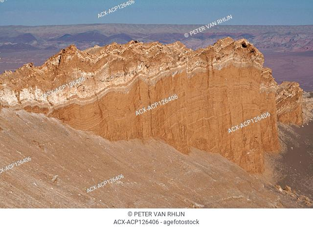 The Valley of the Moon in the Atacama Desert. Known for its extremely dry climate and clear nights,the Atacama is home to the ALMA Observatory, Chile