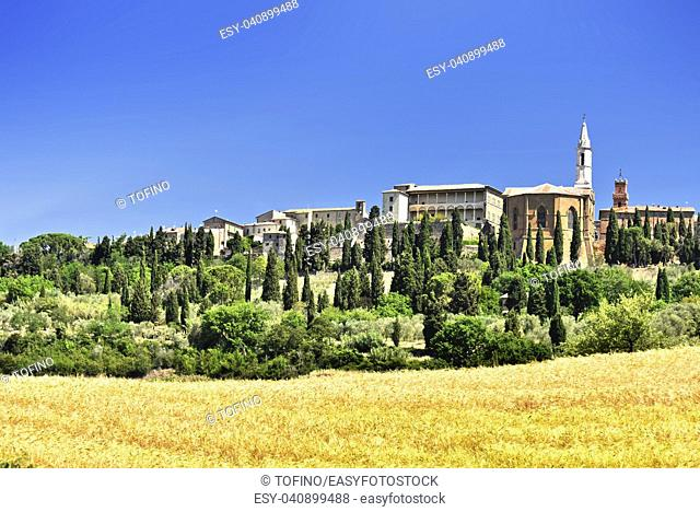 City of Pienza in Tuscany, Italy. UNESCO World Heritage Site