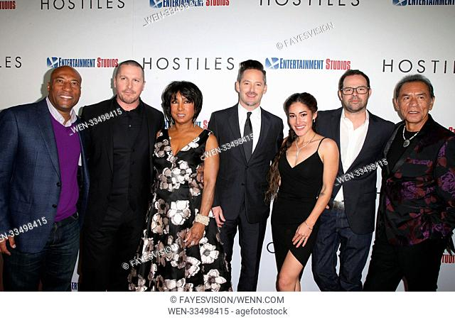 Premiere Of Entertainment Studios Motion Pictures' 'Hostiles' Featuring: Byron Allen, Christian Bale, Carolyn Folks, Scott Cooper, Q'Orianka Kilvcher