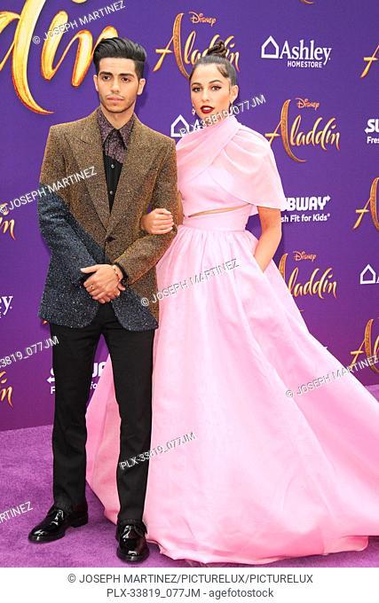 "Mena Massoud, Naomi Scott at The World Premiere of Disney's """"Aladdin"""" held at El Capitan Theatre, Hollywood, CA, May 21, 2019"