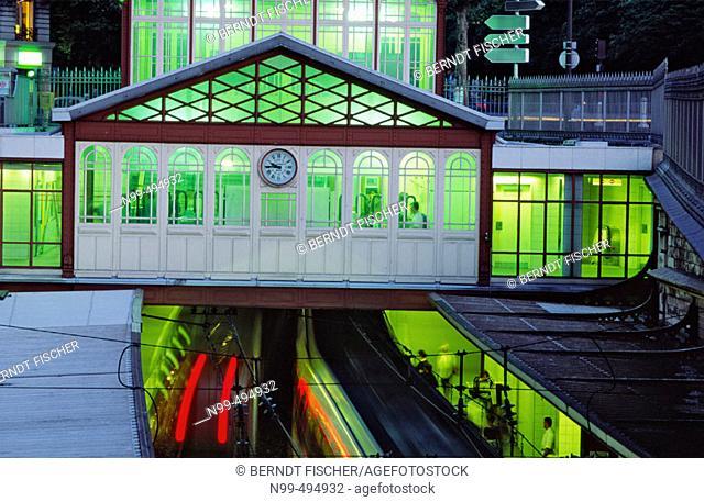 Underground station Denfert-Rochereau, Paris. France