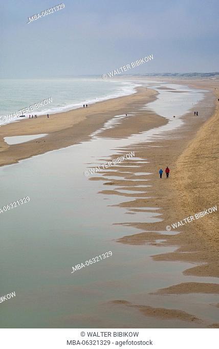 Netherlands, Scheveningen, view of the Strand Noord beach