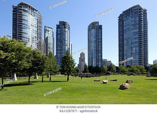 high rise in vancouver city