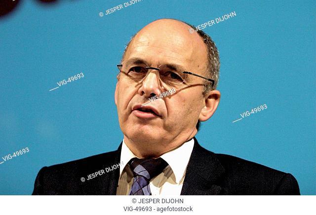 Ueli MAURER, president of the Schweizerischen Volkspartei ( SVP ). - ZUERICH, SWITZERLAND, 03/11/2003