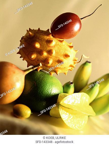 Assorted Exotic Fruit Arranged
