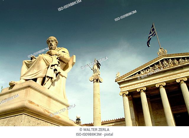 Statue of Plato, Academy of Athens, Athens, Attiki, Greece, Europe