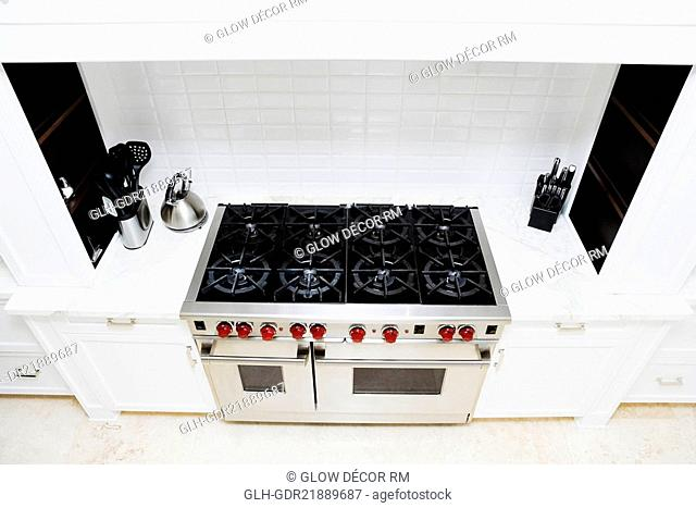 Stove in a kitchen