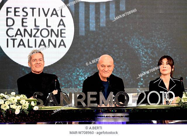 Claudio Bisio, Claudio Baglioni, Virginia Raffaele Sanremo, 5 - 9 Febbraio 2019 69mo Festival della canzone italiana