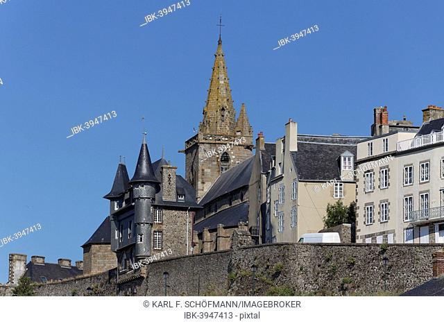 Historic historic centre, Haute Ville, Granville, Département Manche, Cotentin Peninsula, Lower Normandy, France