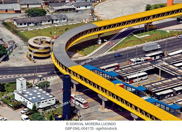 Terminal of Bus of the Parque Dom Pedro II, São Paulo, Brazil