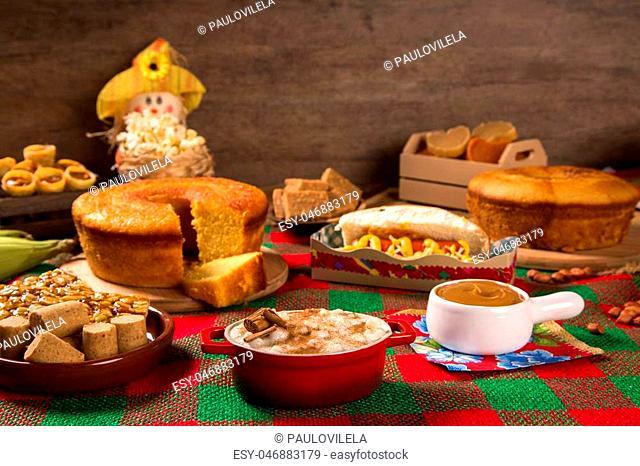Table of brazilian festa junina