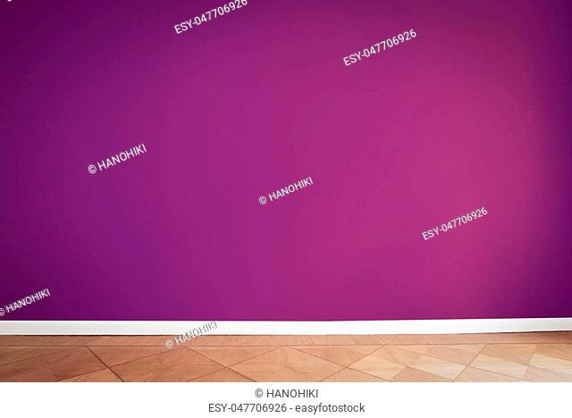 purple wall color background, empty room