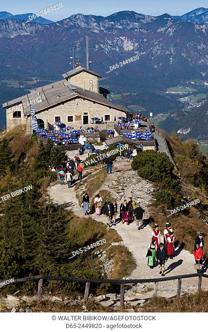 Germany, Bavaria, Obersalzberg, Kehlsteinhaus, Tea house built for Adolf Hilter, The Eagle's Nest, atop Kehlstein mountain