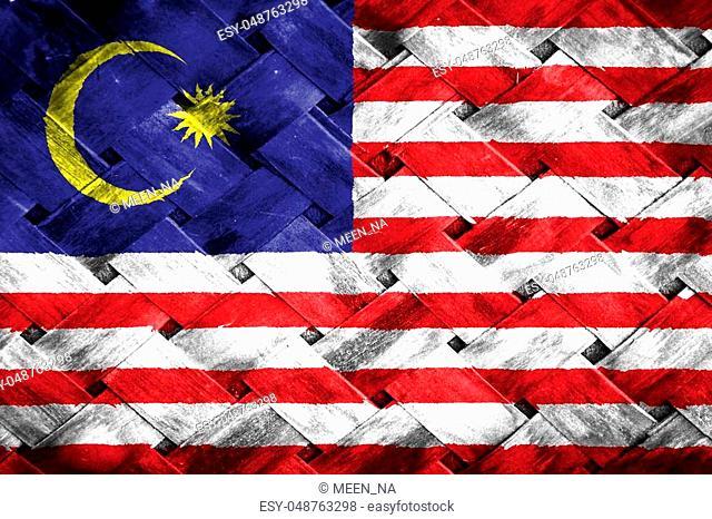 Malaysia flag, Malaysia flag on Weave Bamboo