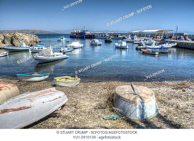 HDR image of boats moared at the Harbour on the island of Tabarca