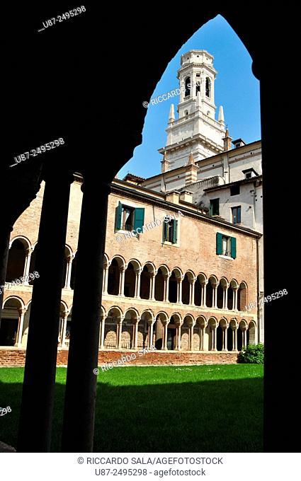 Italy, Veneto, Verona, Santa Maria Matricolare, Cathedral, Cloister
