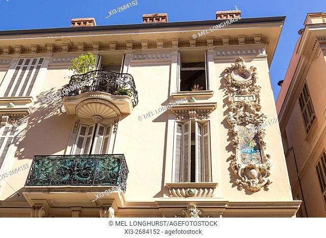A building in Rue des Acores, Monaco, Cote D'Azur, France
