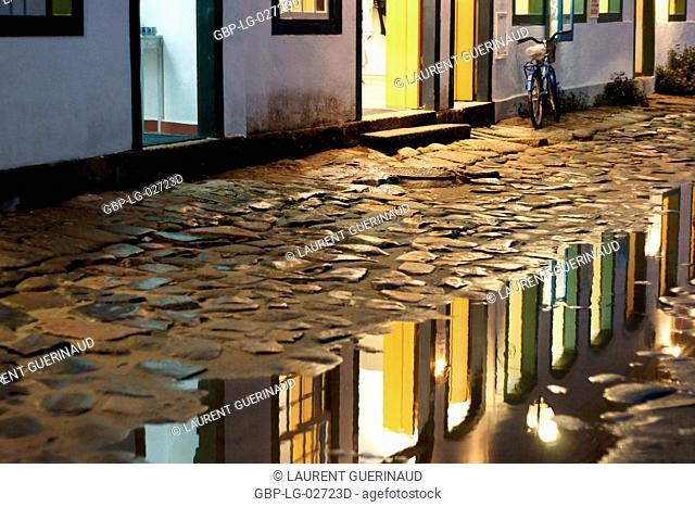 Puddle of Water, Reflexes, Paraty, Rio de Janeiro, Brazil