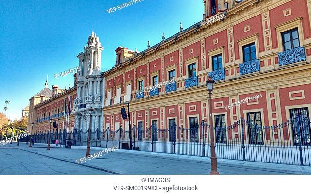 Avenida de Roma - Palacio de San Telmo, Seville, Andalusia, Spain