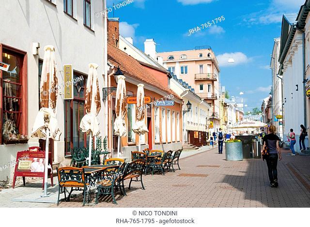 Ruutli street, Tartu, Estonia, Baltic States, Europe