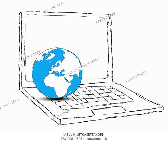 Laptop and Globe concept