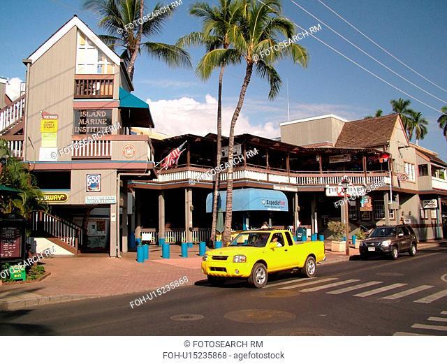 Lahaina, Maui, HI, Hawaii, downtown, The Wharf