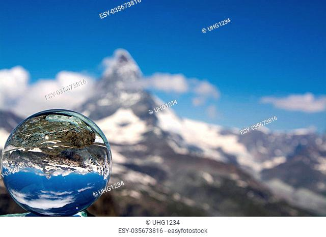 The Matterhorn is a mountain of the Alps, straddling the main watershed and border between Switzerland and Italy