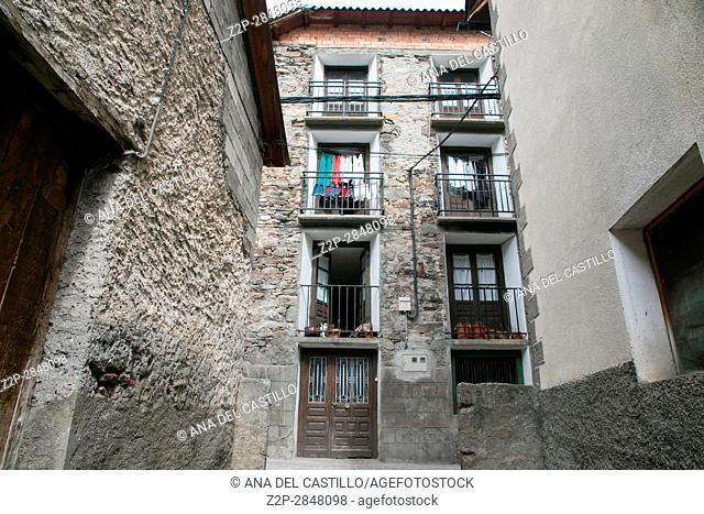 San Juan de Plan village in the Pyrenees mountains Huesca Aragon Spain