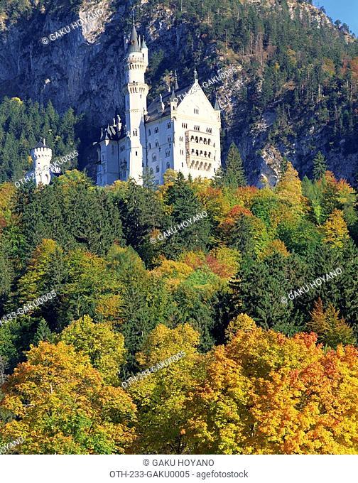 Royal castle, Neuschwanstein, Bavaria, Germany