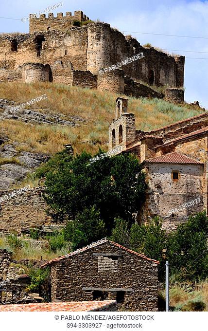 Castle of Nava del Marqués and chapel of Virgen de Barruso, Magaña, Soria, Spain
